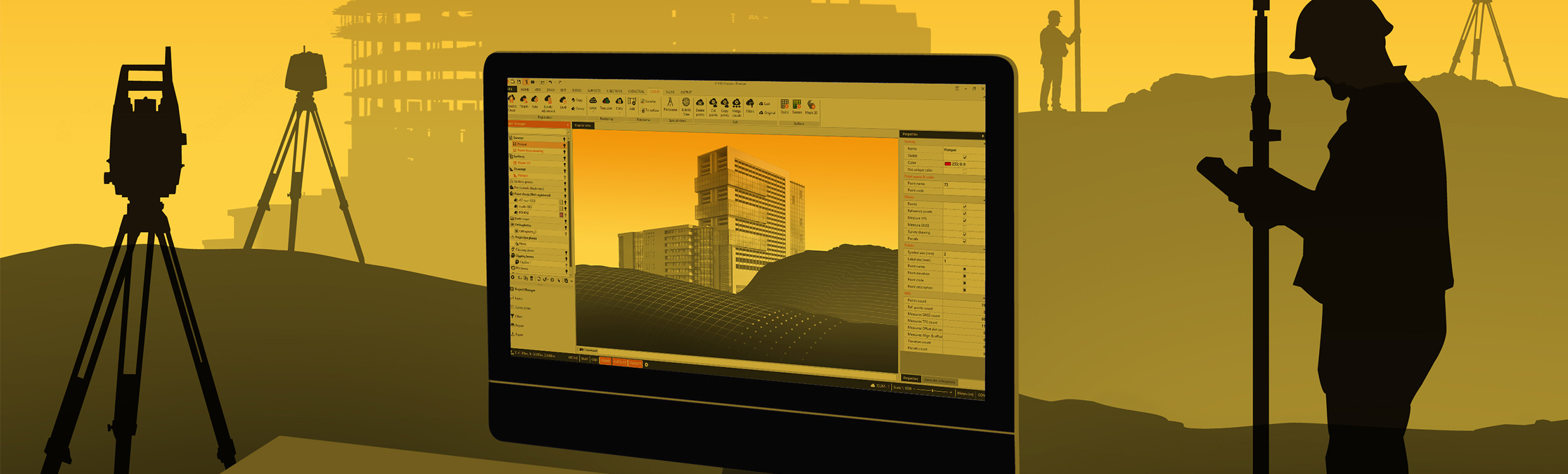 GeoMax Software X-PAD Office Fusion 2480x750