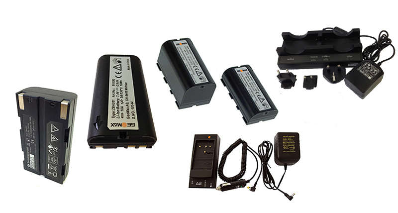 GeoMax Batteries and chargers